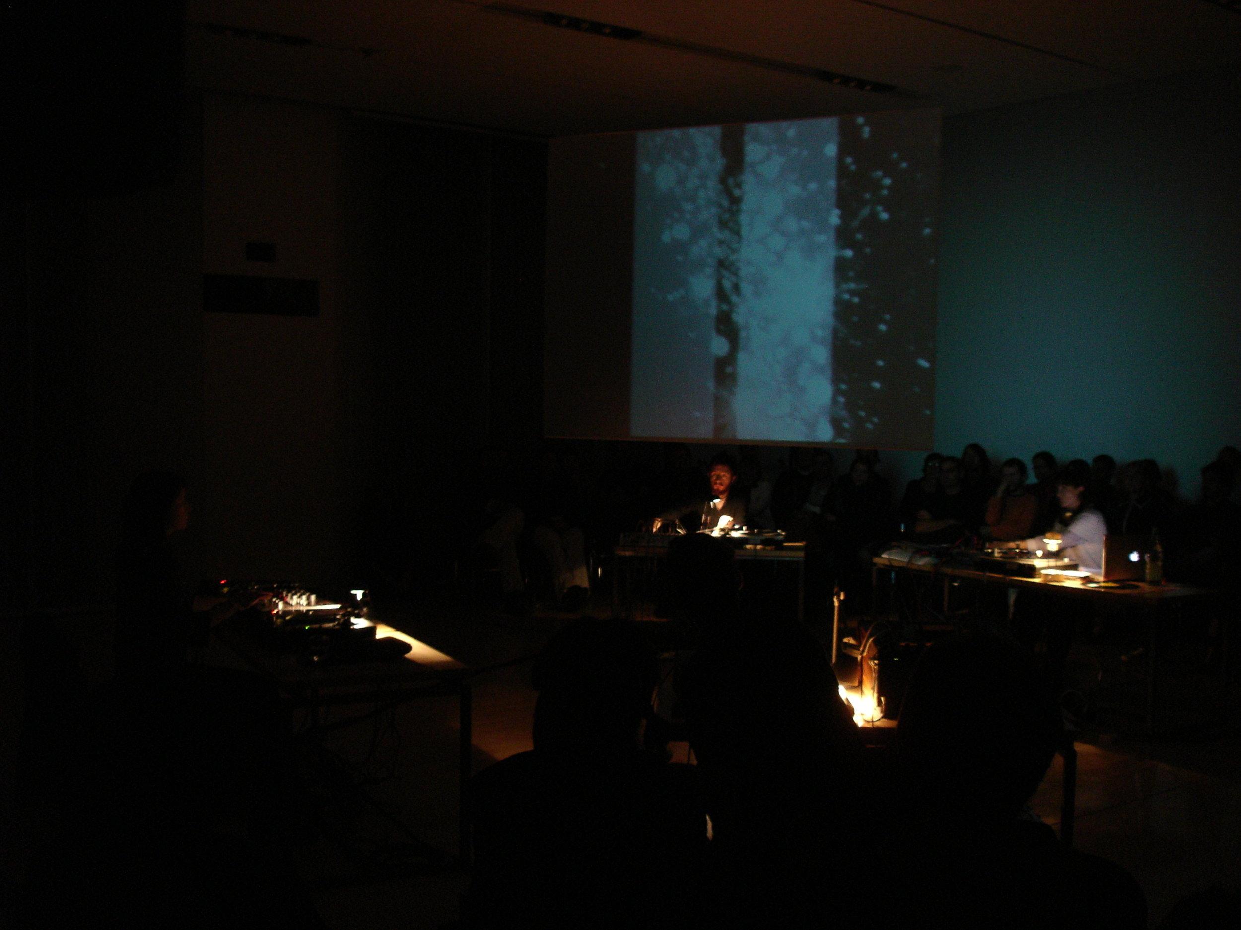 WHITE LINES, 2006, performance view with Marina Rosenfeld, Stefano Pilia, Letizia Renzini, Valerio Tricoli, The British School at Rome, Rome, Italy