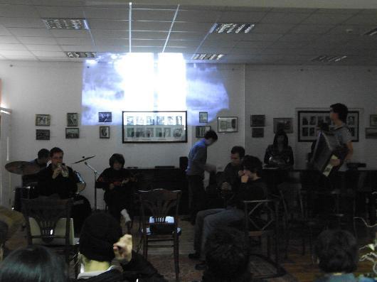 WHITE LINES, 2009, Tbilisi 6: Never on Sunday, with Ei Arakawa, Mikail D. Brkic, Tobias Kaspar, Ana Tabatadze, Sergei Tcherepnin, others, Tbilisi State Conservatoire, Tbilisi, Georgia