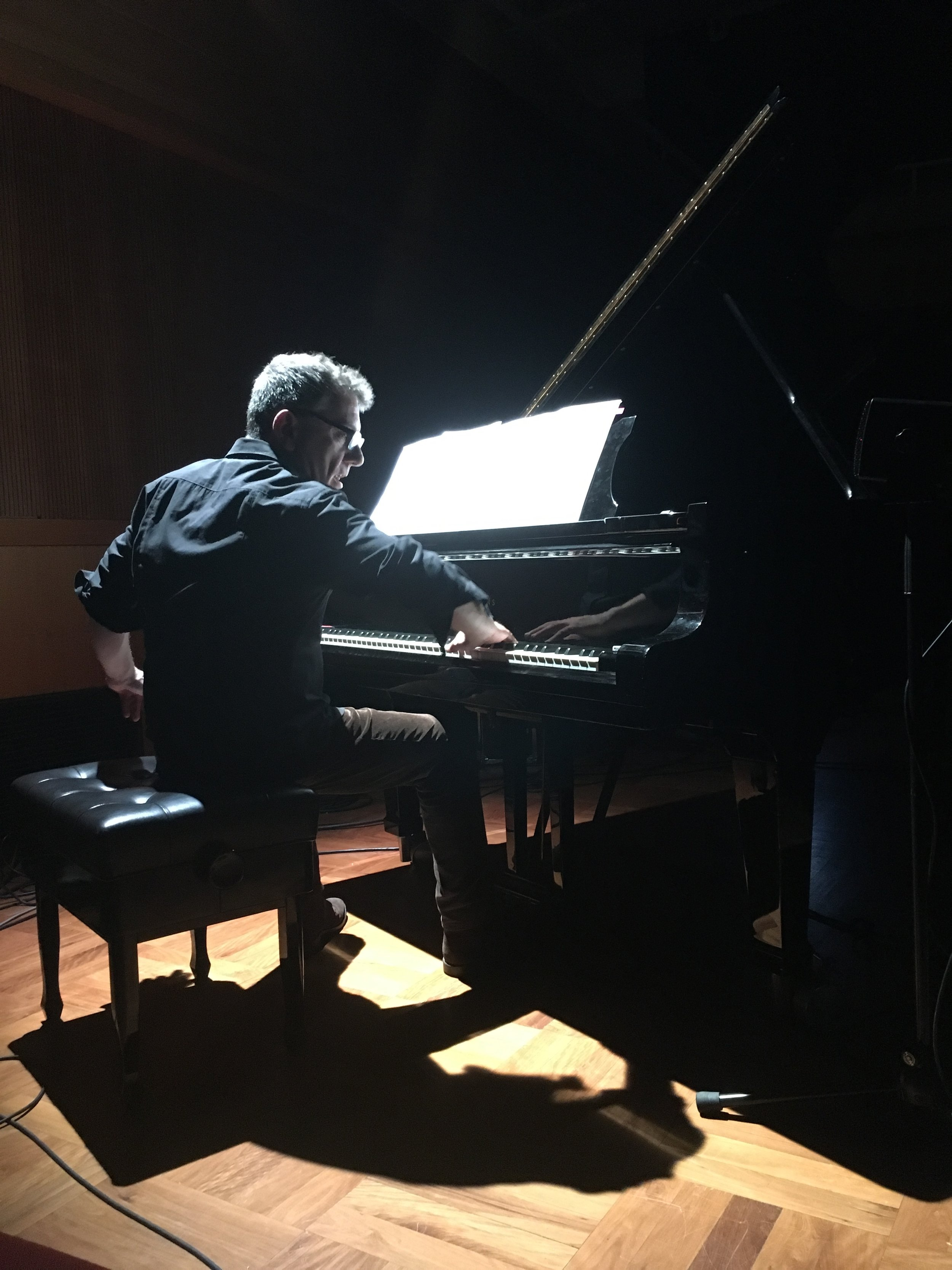 Deathstar Orchestration,  performance view, with Marino Formenti, piano, Donaueschinger Musiktage, October, 2017