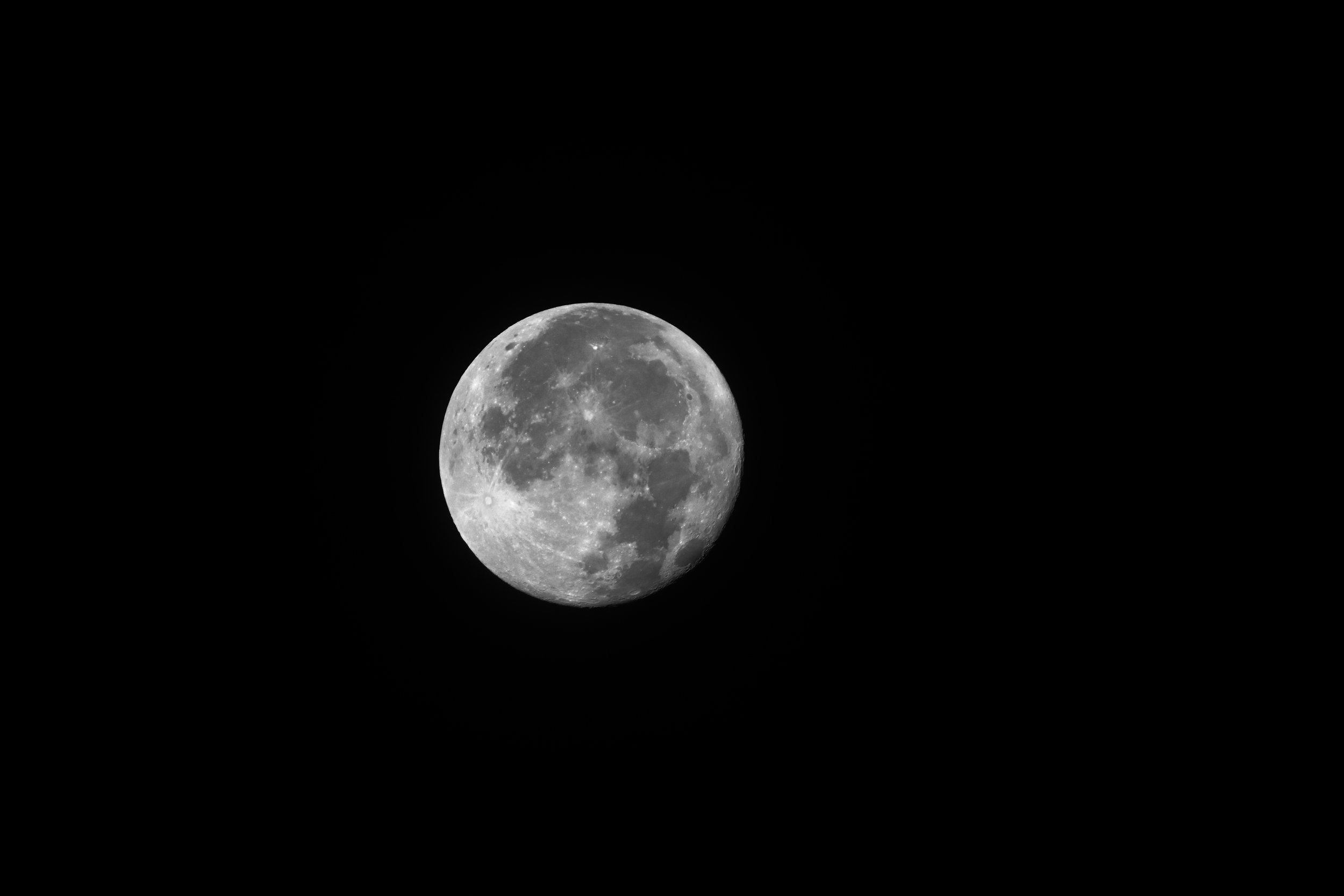 Shot of the Moon from near Piqua, Ohio on a September morning.