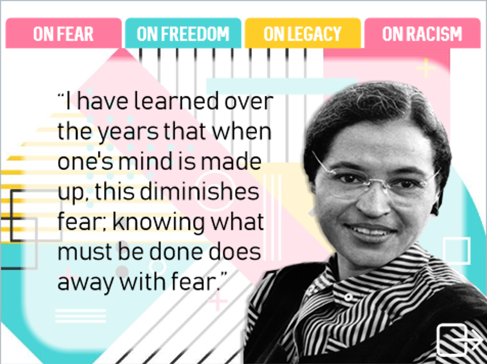 Rosa Parks on... - A retro tabbed interaction full of wisdom.