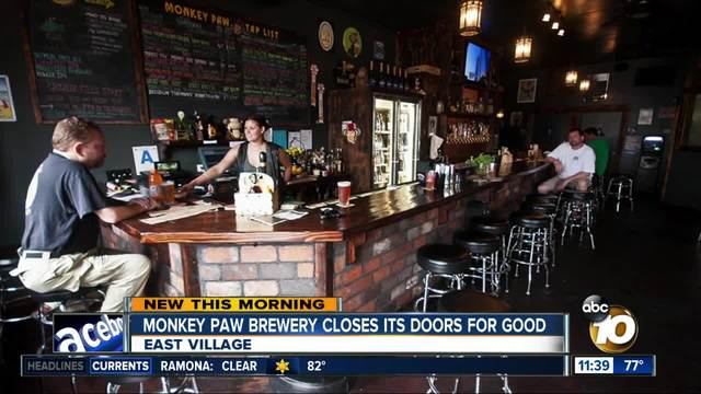 Monkey Paw Brewing closes