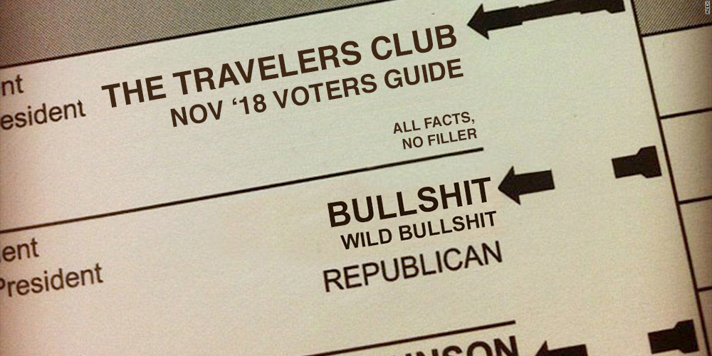 The Travelers Club Voters Guide