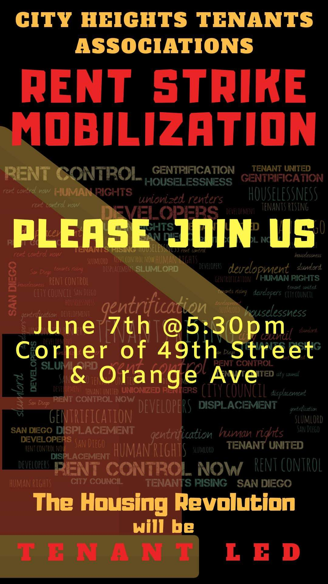 City Heights rent strike mobilization