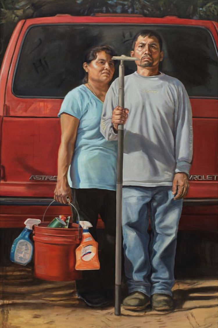 """""""The New American Gothic."""" 72"""" x 48"""". Oil on canvas."""