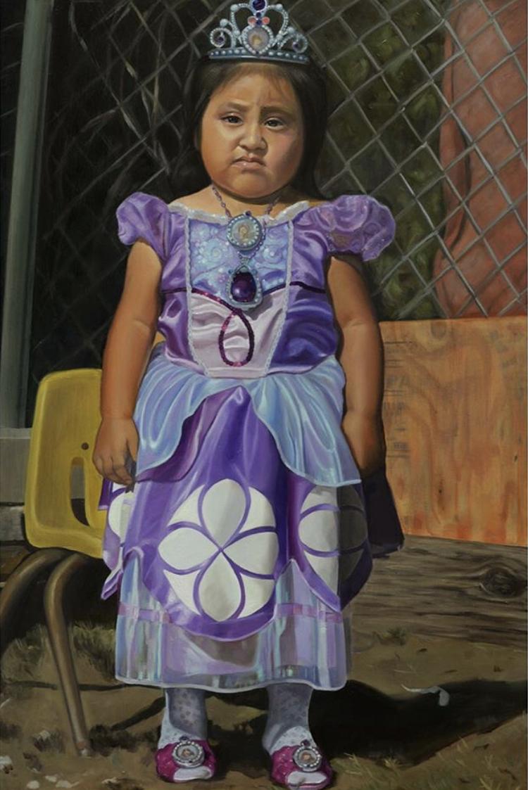 """I am Princess Sofia."" 24"" x 36"". Oil on panel."
