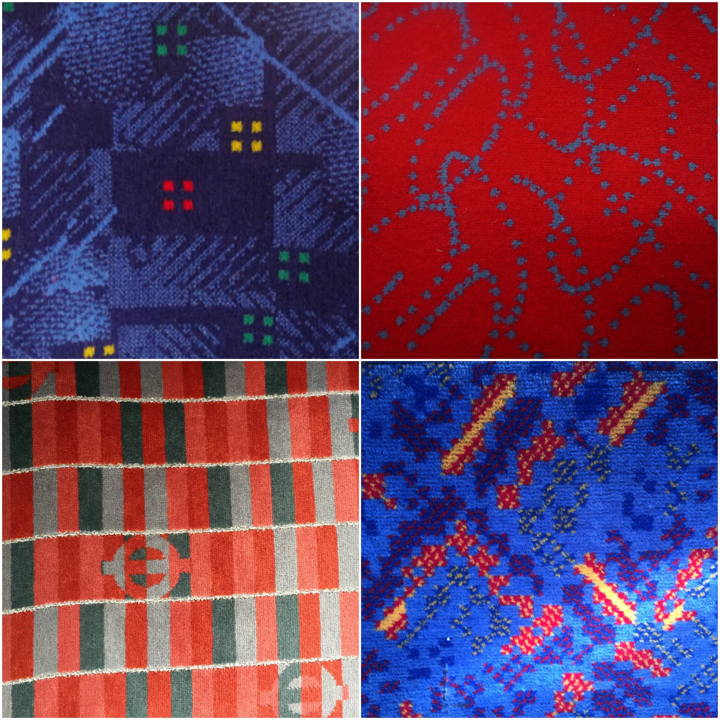 Red and blue London bus moquette collage.jpg