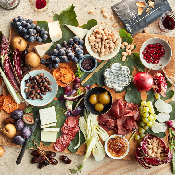 Grazing Boards - The holiday season gives us many welcome opportunities to gather with friends and family. Conjure up a relaxed, yet festive mood for your next get-together—assemble a delicious grazing board.click here to see instructions