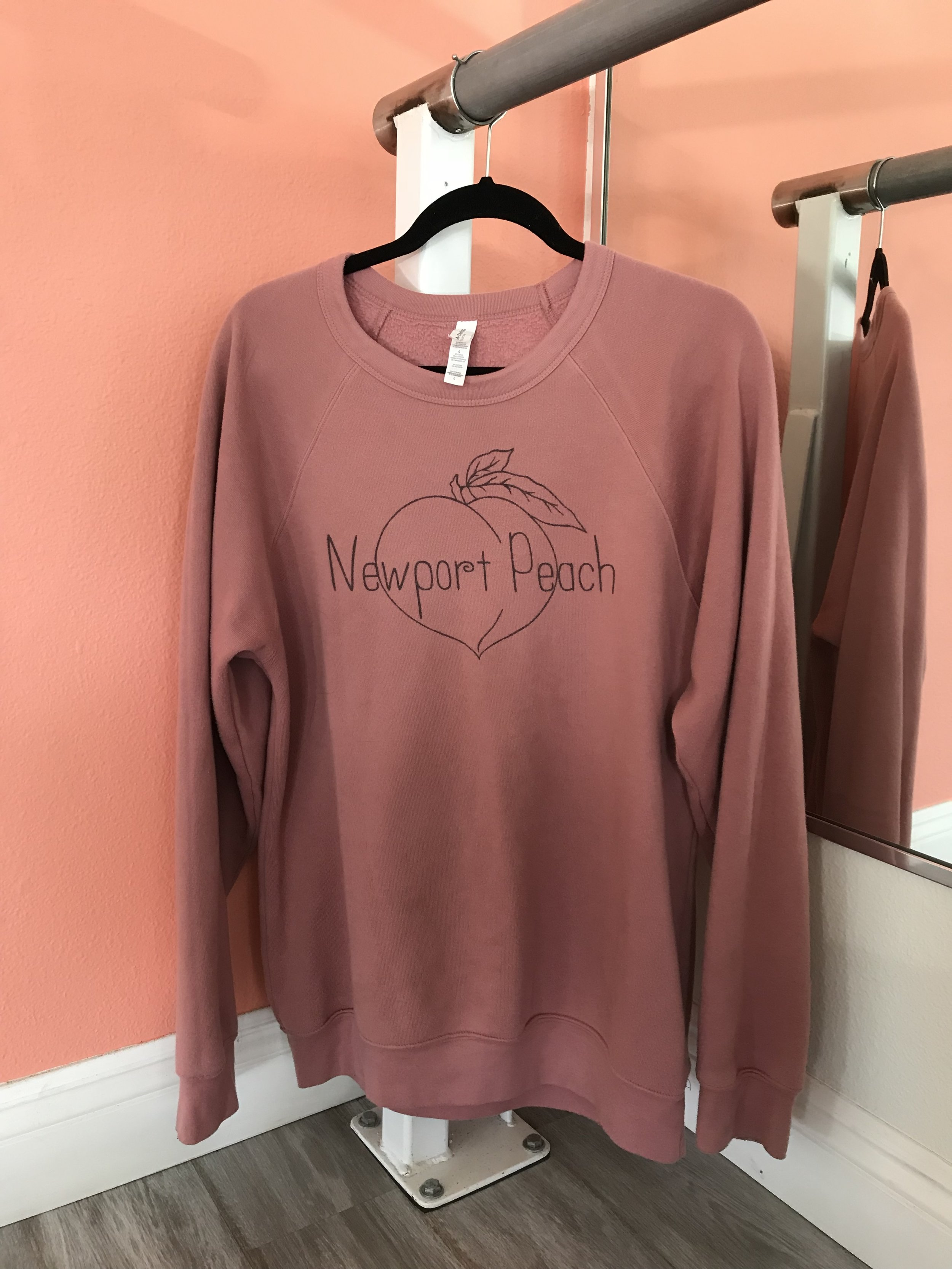 MAUVE - LONG CREW - SIZES SM - XL    ALSO AVAILABLE IN LIGHT PEACH & DUSTY BLUE