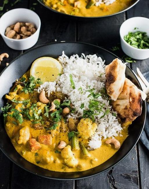Creamy Coconut Vegetarian Korma -
