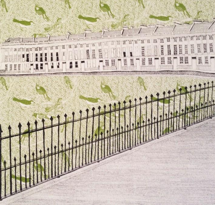 Bath Crescent - Green
