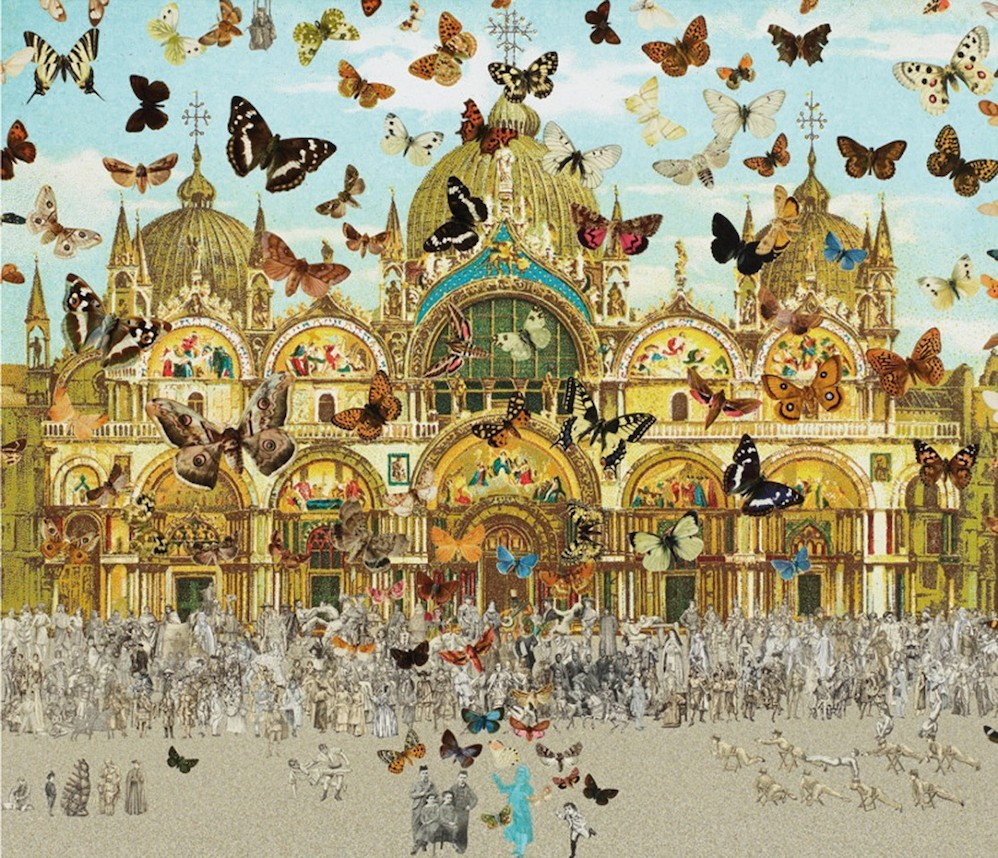 The Butterfly Man in Venice - Homage to Damien Hirst
