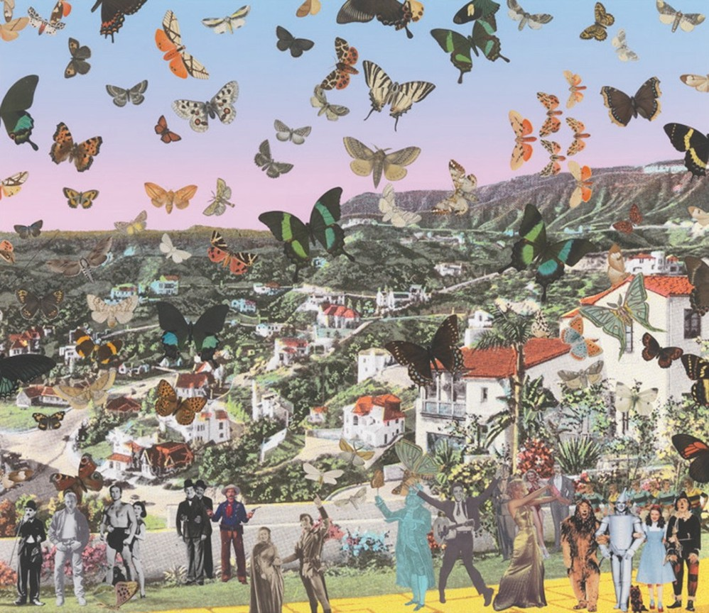 The Butterfly Man in Hollywood Land - Homage to Damien Hirst