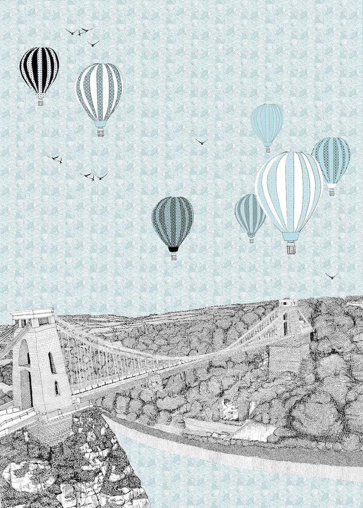 Blue Balloons Over Bristol