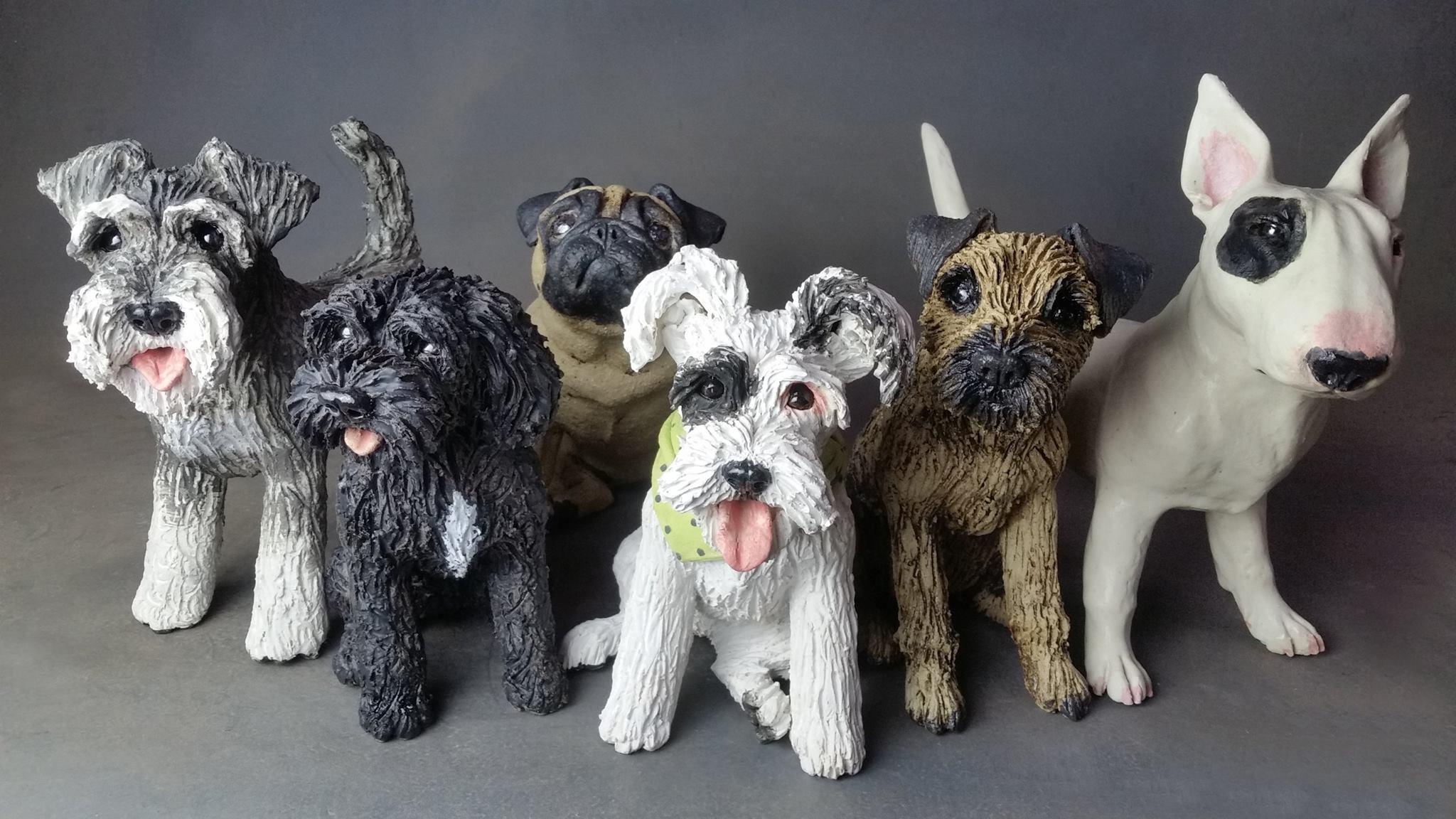 Handmade ceramic dogs from £315