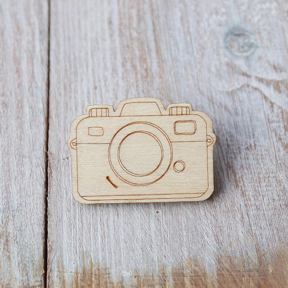 Camera Brooch
