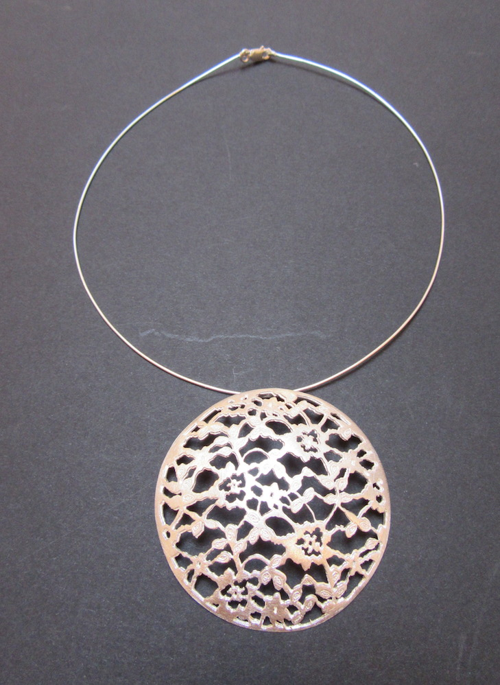 Silver Lace Pendant