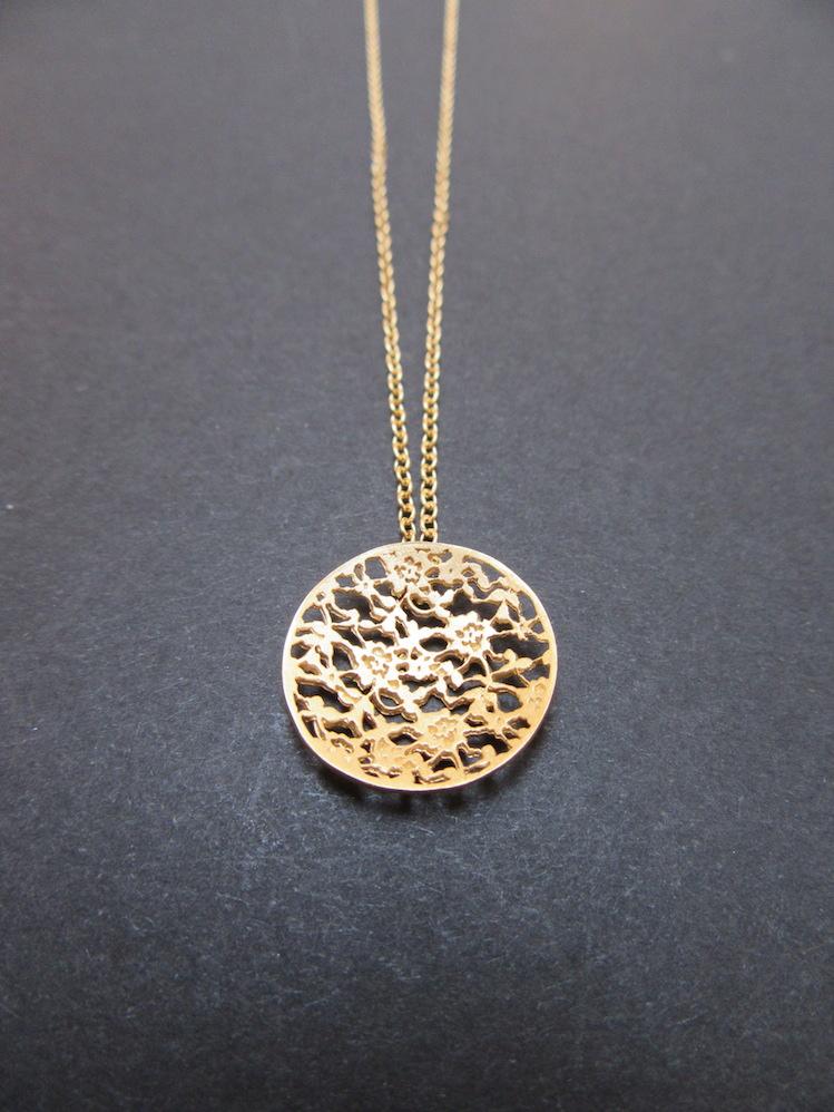 Gold Lace Pendant