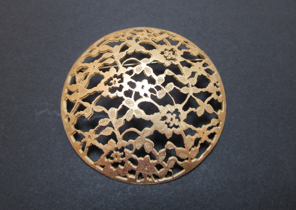 Gold Lace Brooch