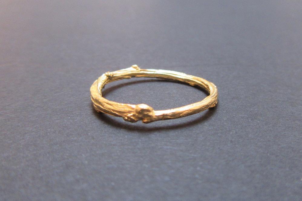Gold Briar Branch Ring