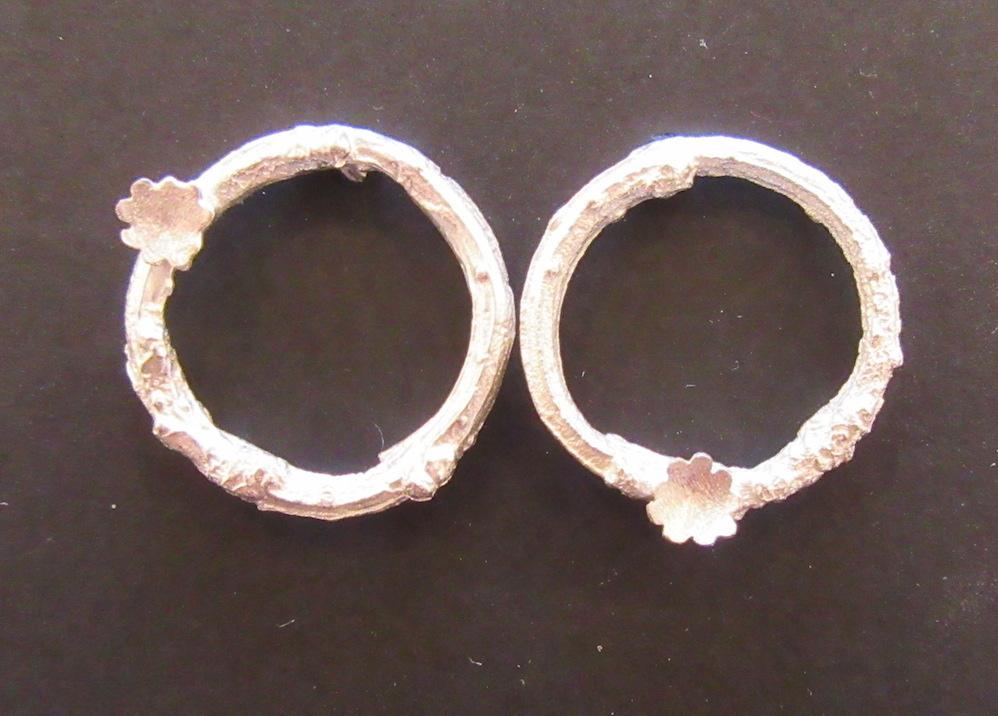 Silver Briar Wreath Earrings