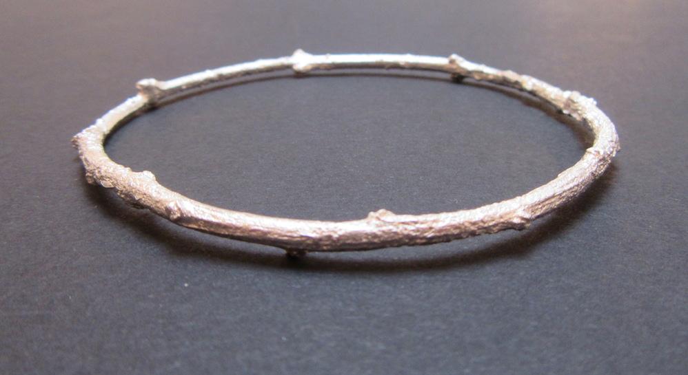 Silver Briar Bangle