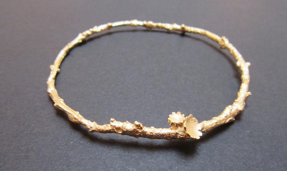 Gold Briar Bangle