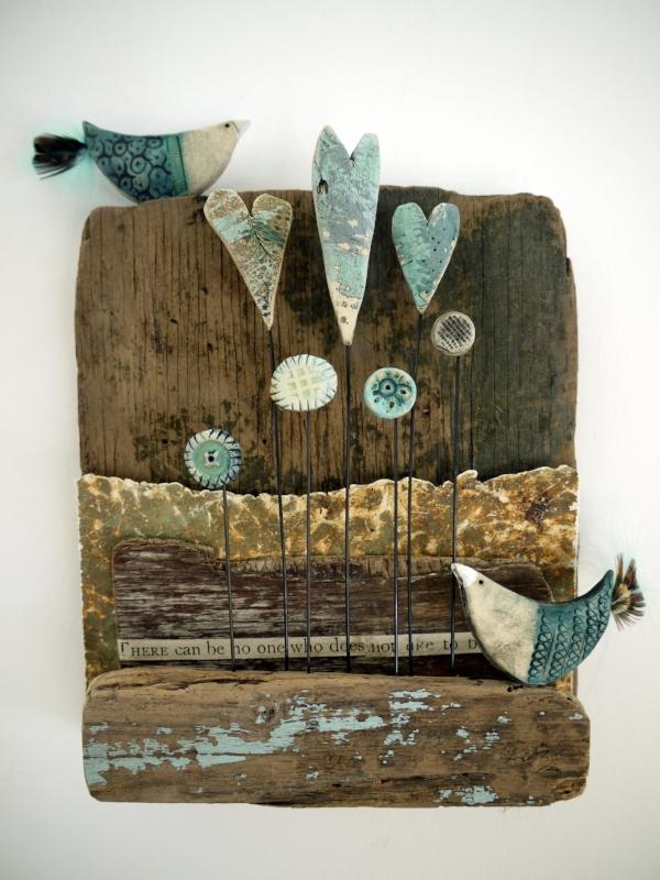 Ceramic and mixed media