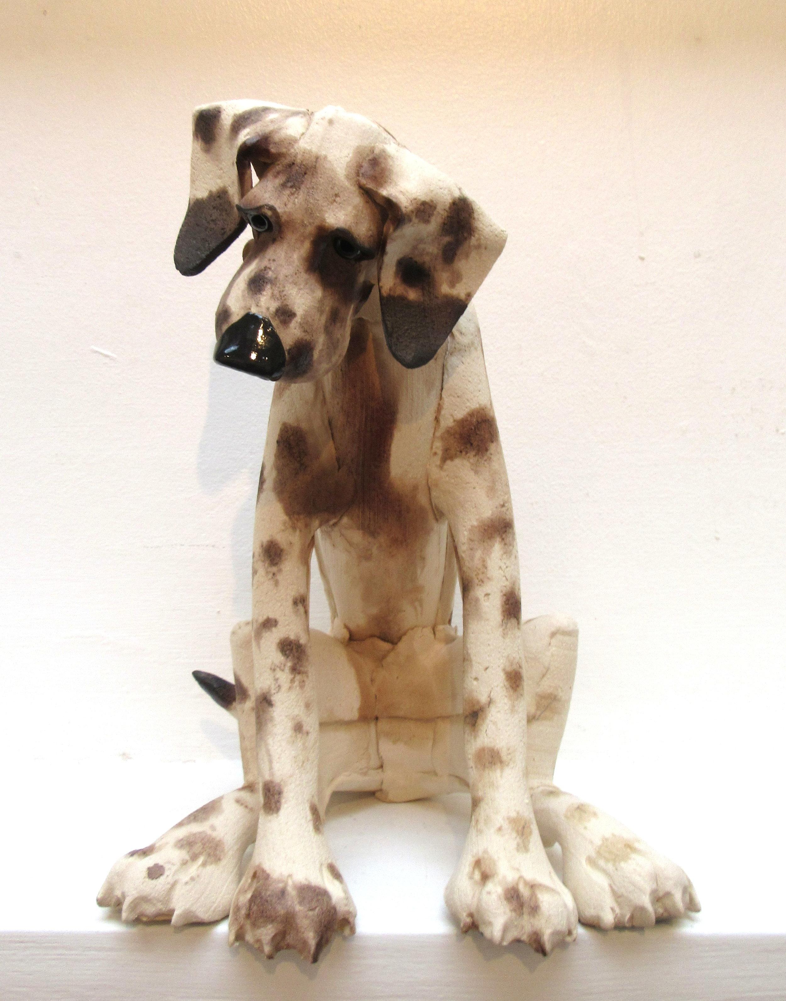 Large Spotted Sitting Dog