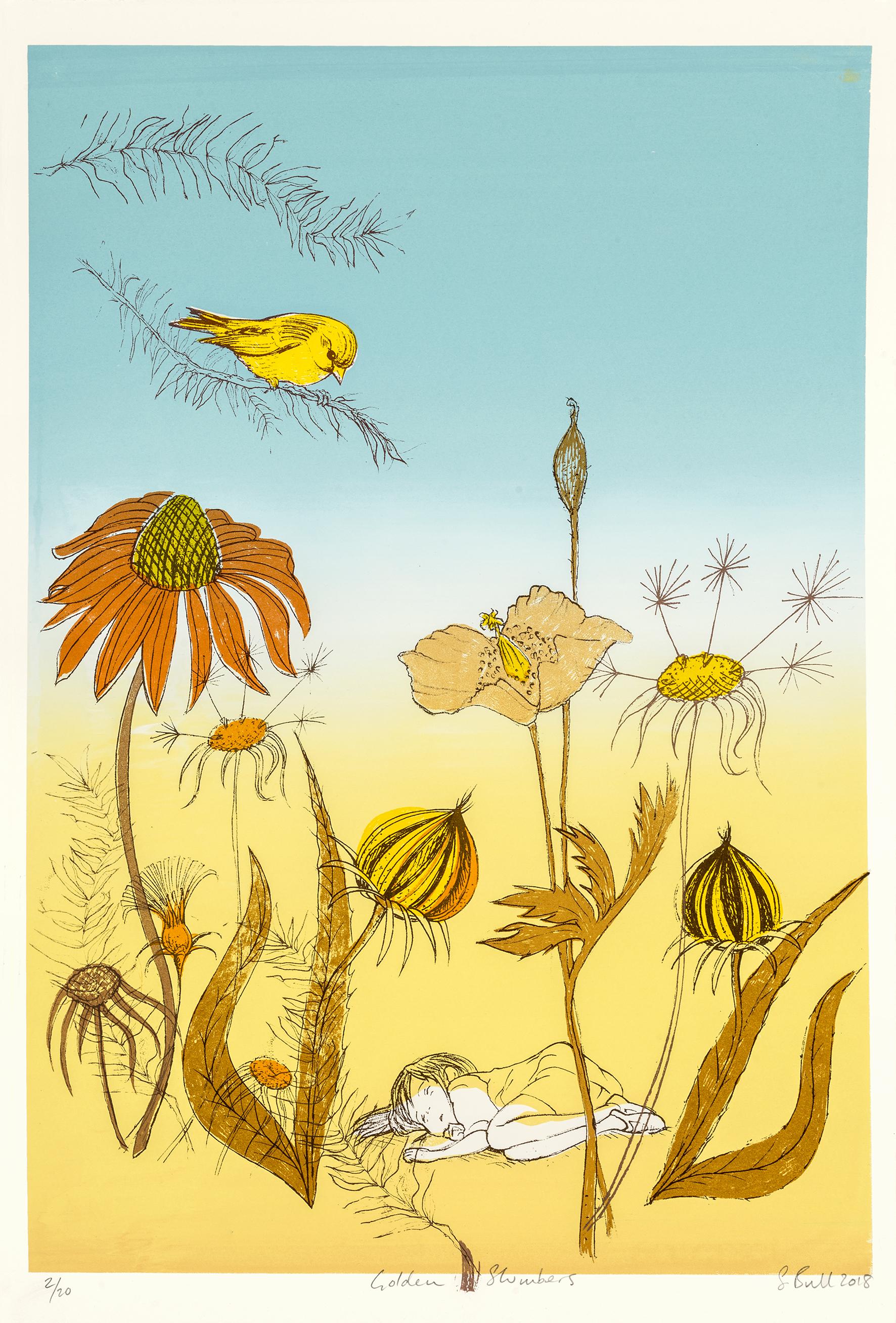 Sylvia Bull | Golden Slumbers | Silkscreen print