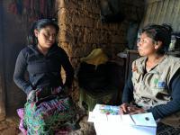 Telma Cuc, PIES Health Educator, providing counselling to Roxana Castro