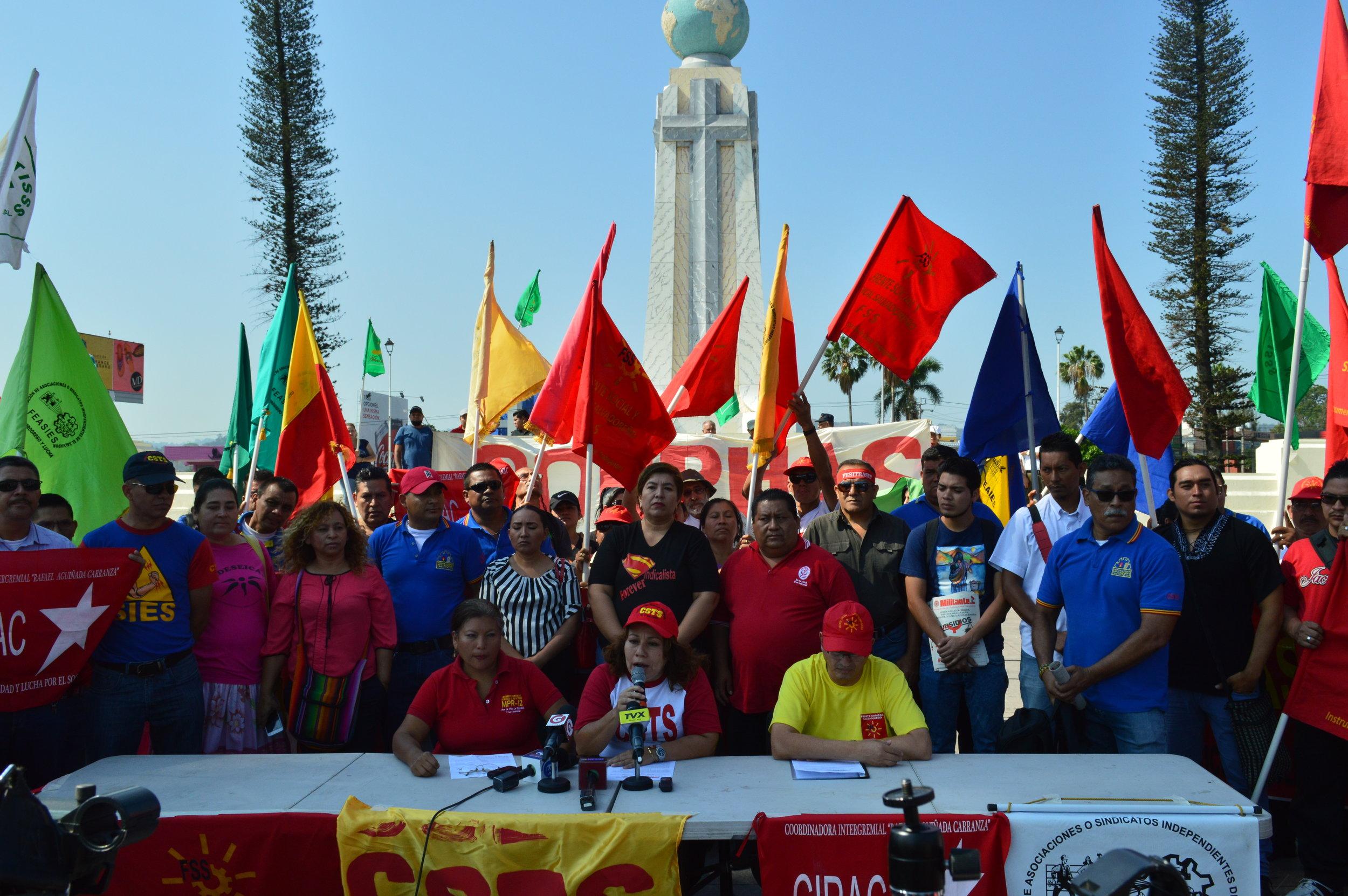 Conferencia de prensa de la Unidad de Trabajadores(as) convocando para el Uno de mayo Día Internacional de la Clase Trabajadora.JPG