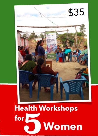 Health educators provide health workshops in rural and remote communities for pregnant women, new mothers and their male partners. They receive much needed information on health and wellness in workshops conducted in Maya K'iche' spoken by the vast majority of Totonicapán's residents.