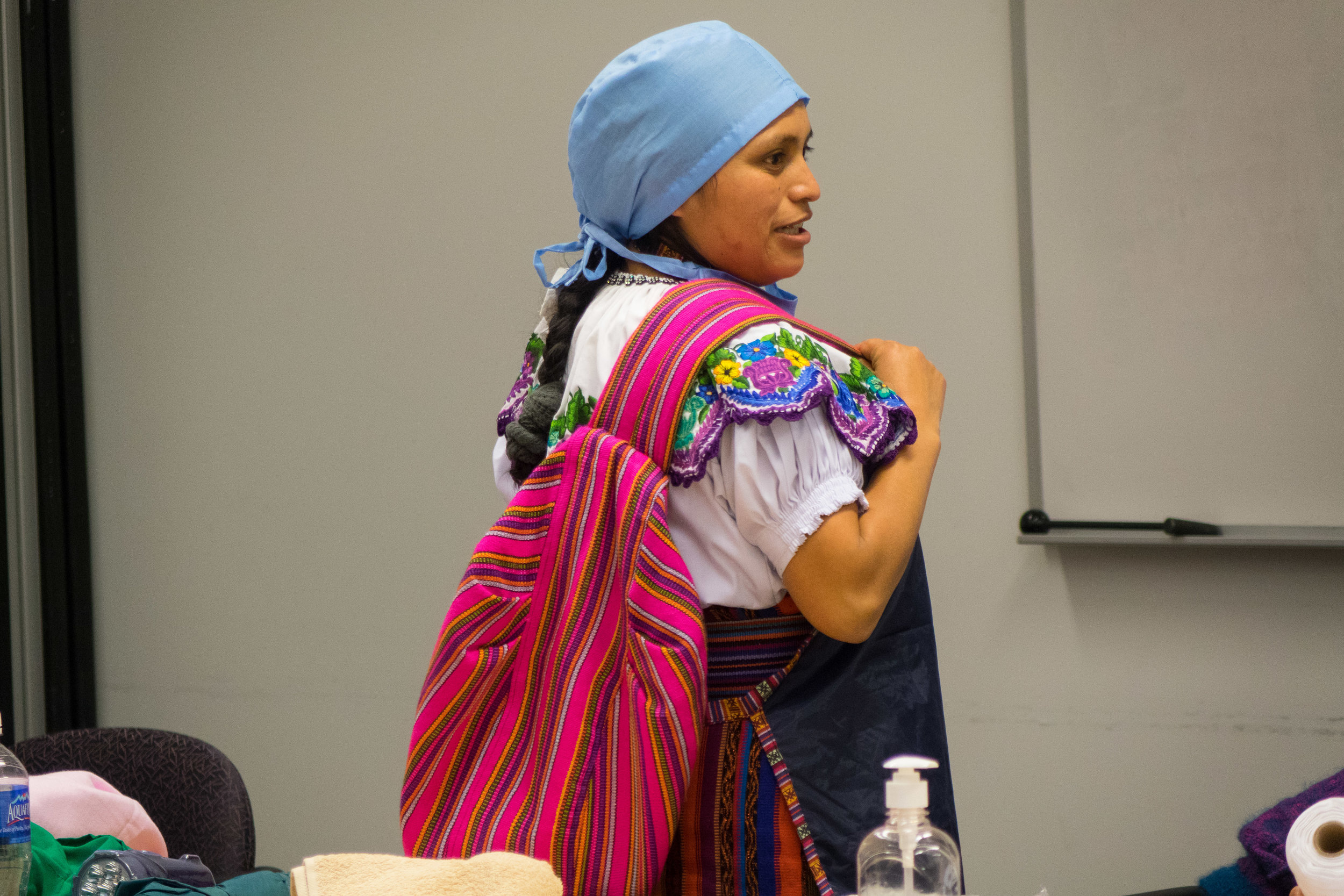 Valenzuela, a traditional Indigenous Maya K'iche'midwife, shared her story and experiences with Canadians during the MNCH project's most recent Knowledge Exchange across Ontario and Québec.
