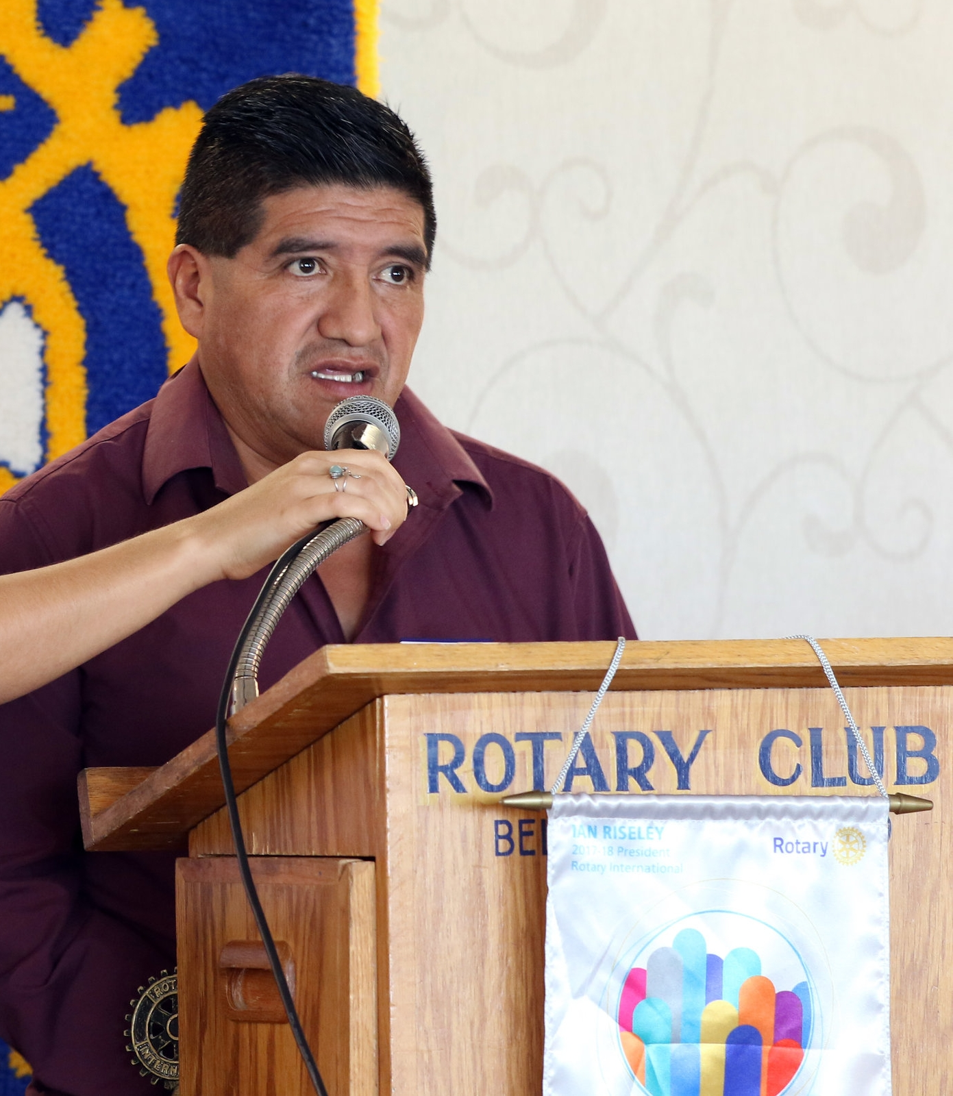 Eusebio spoke at numerous public event during the MNCH project's most recent Knowledge Exchange. He shared his experience promoting gender equality and challenging machismo in his community.