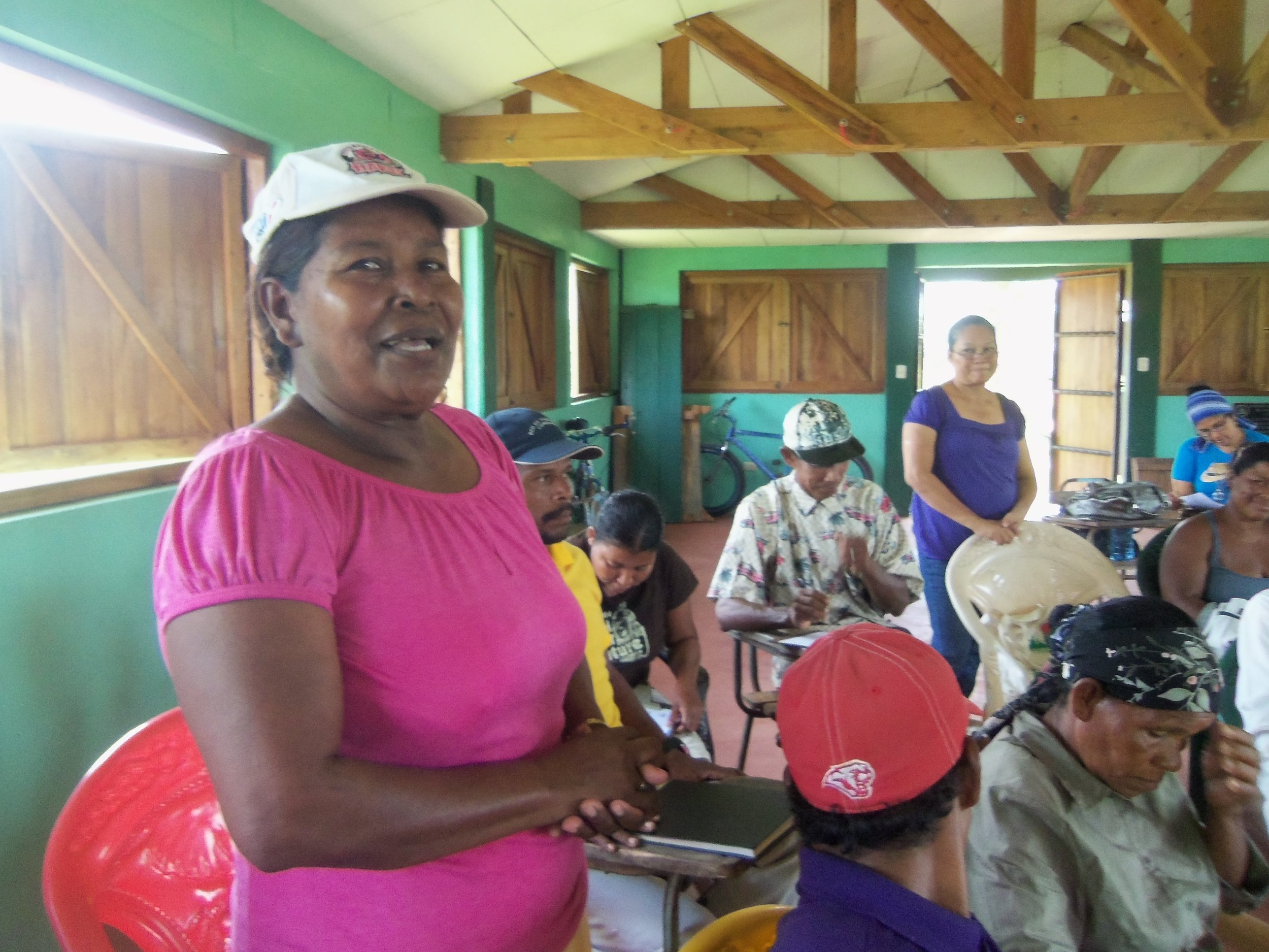 AMICA trains Indigenous Miskitu women to be community promoters so they can share information women's rights, including the right to a life free of violence.