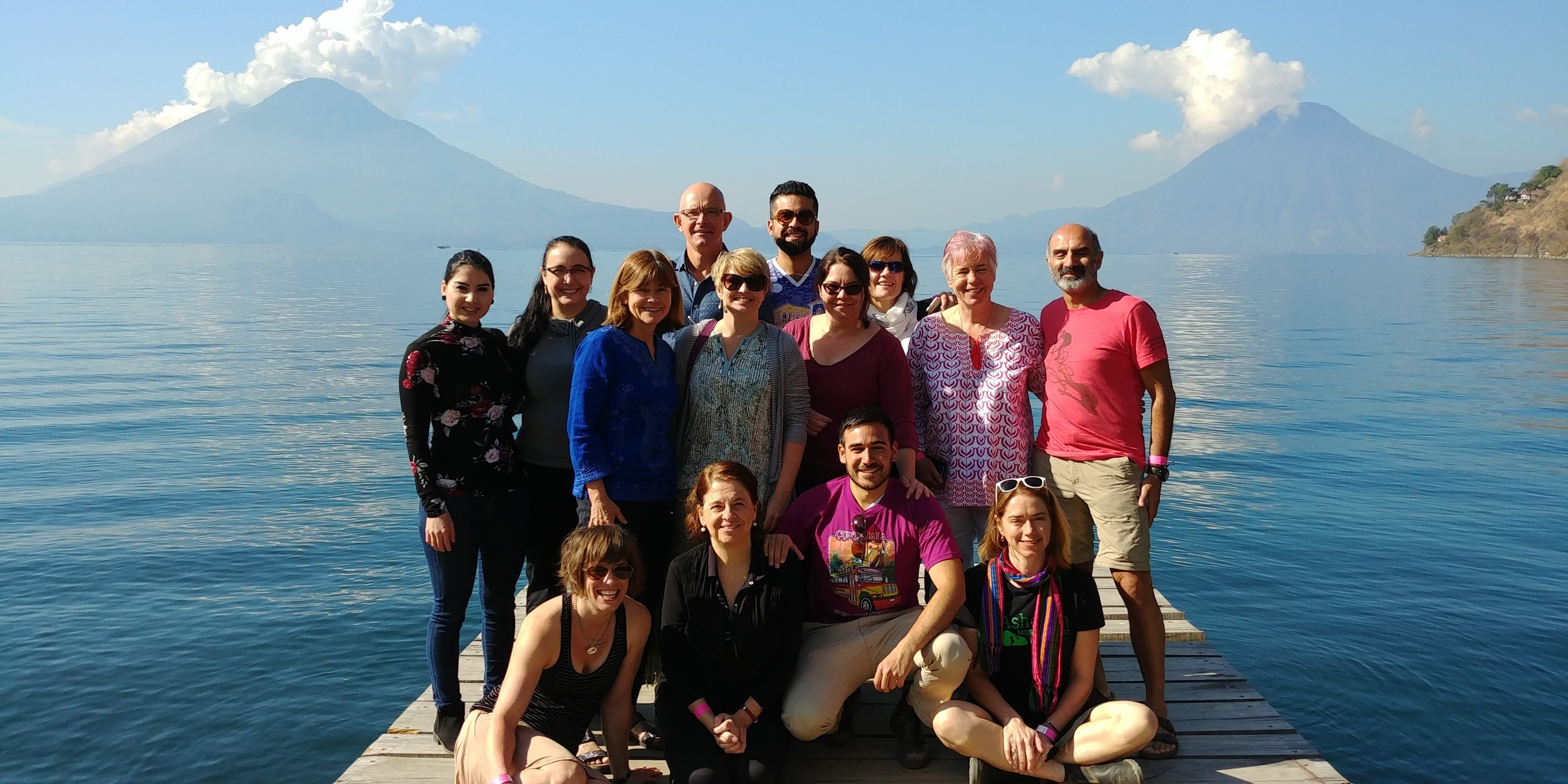 Former Canadian exchange participants in Panajachel, a town on the shores of Lake Atitlán