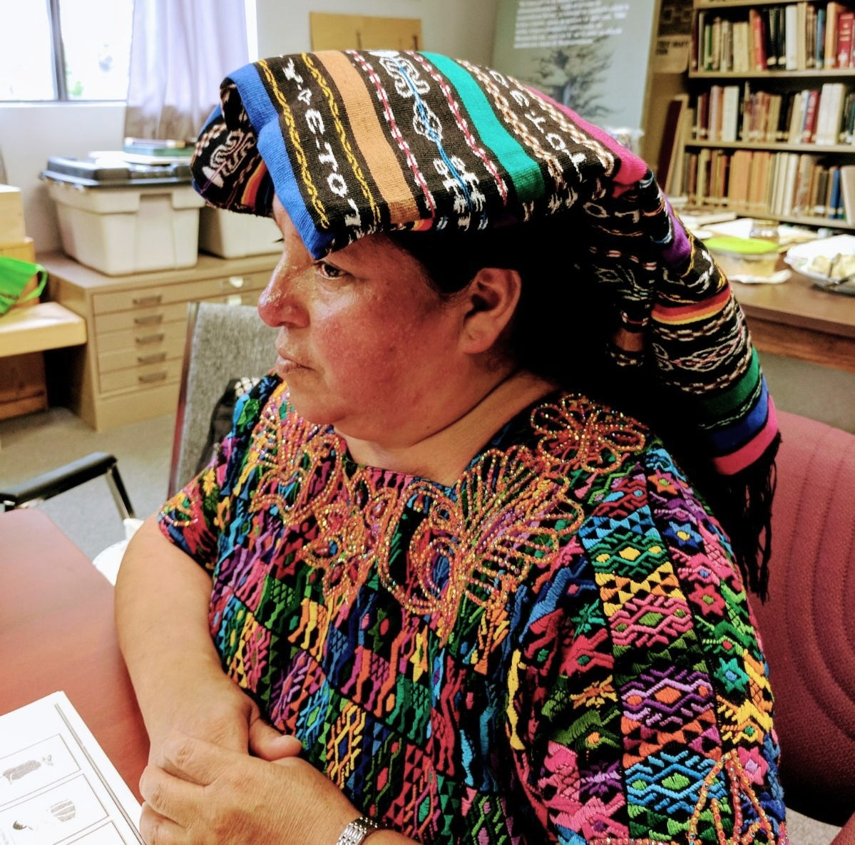 Estela Canastuj, a traditional Indigenous midwife and lead trainer.