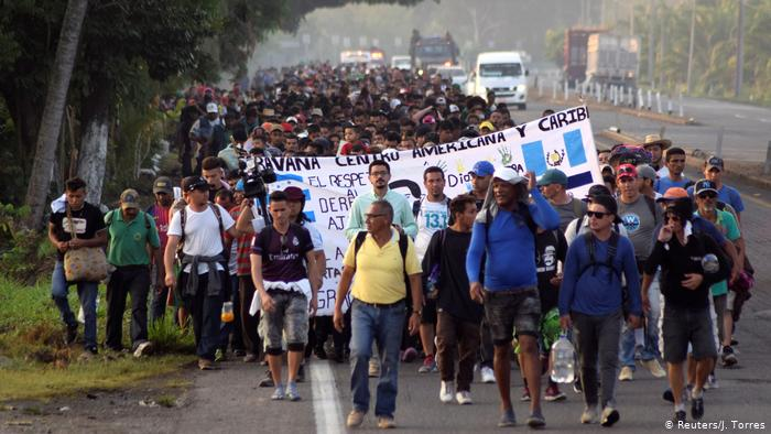 Thousands of migrant from Central America approached the Guatemalan border towards Mexico in October, 2018.