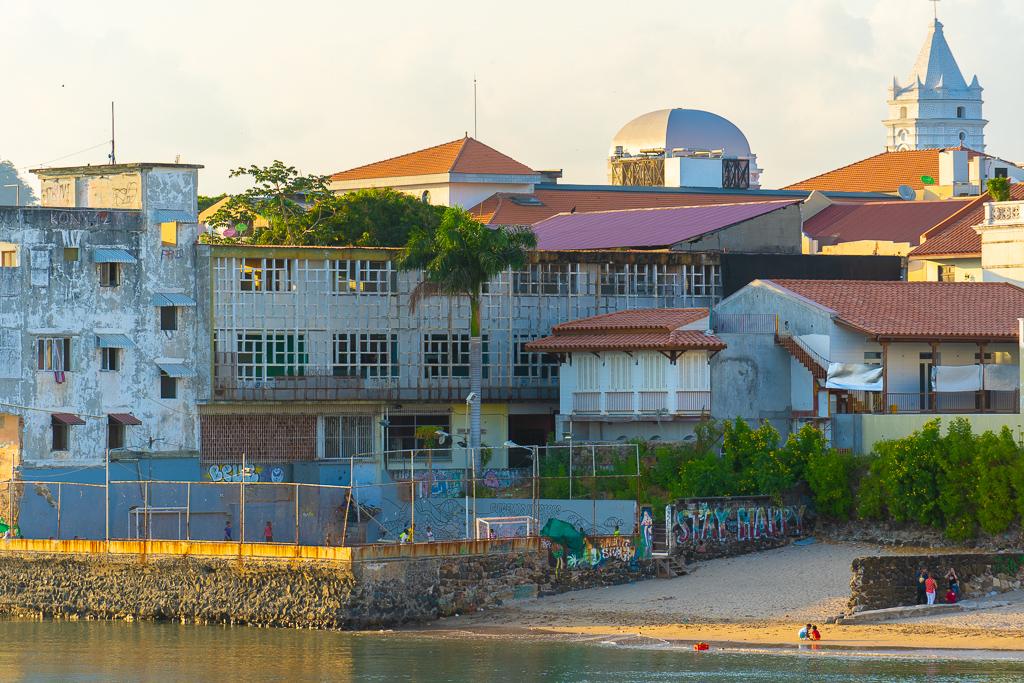 The outskirts of Casco Viejo, Panama City, Panama.