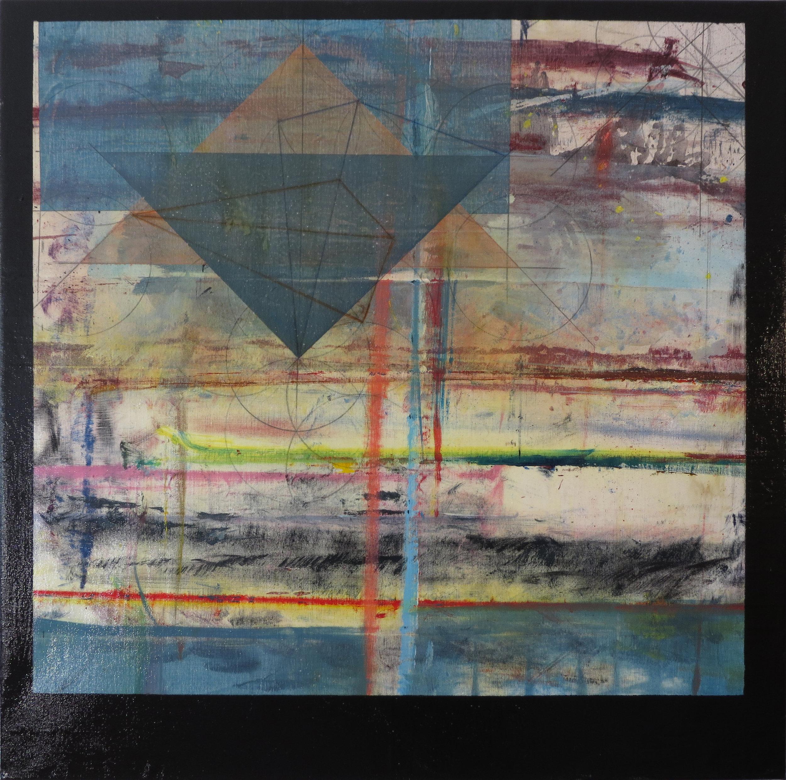 PRISCA   2015  Dream Series  Acrylic, Graphite, Pastel, Varnish, Canvas  30x30