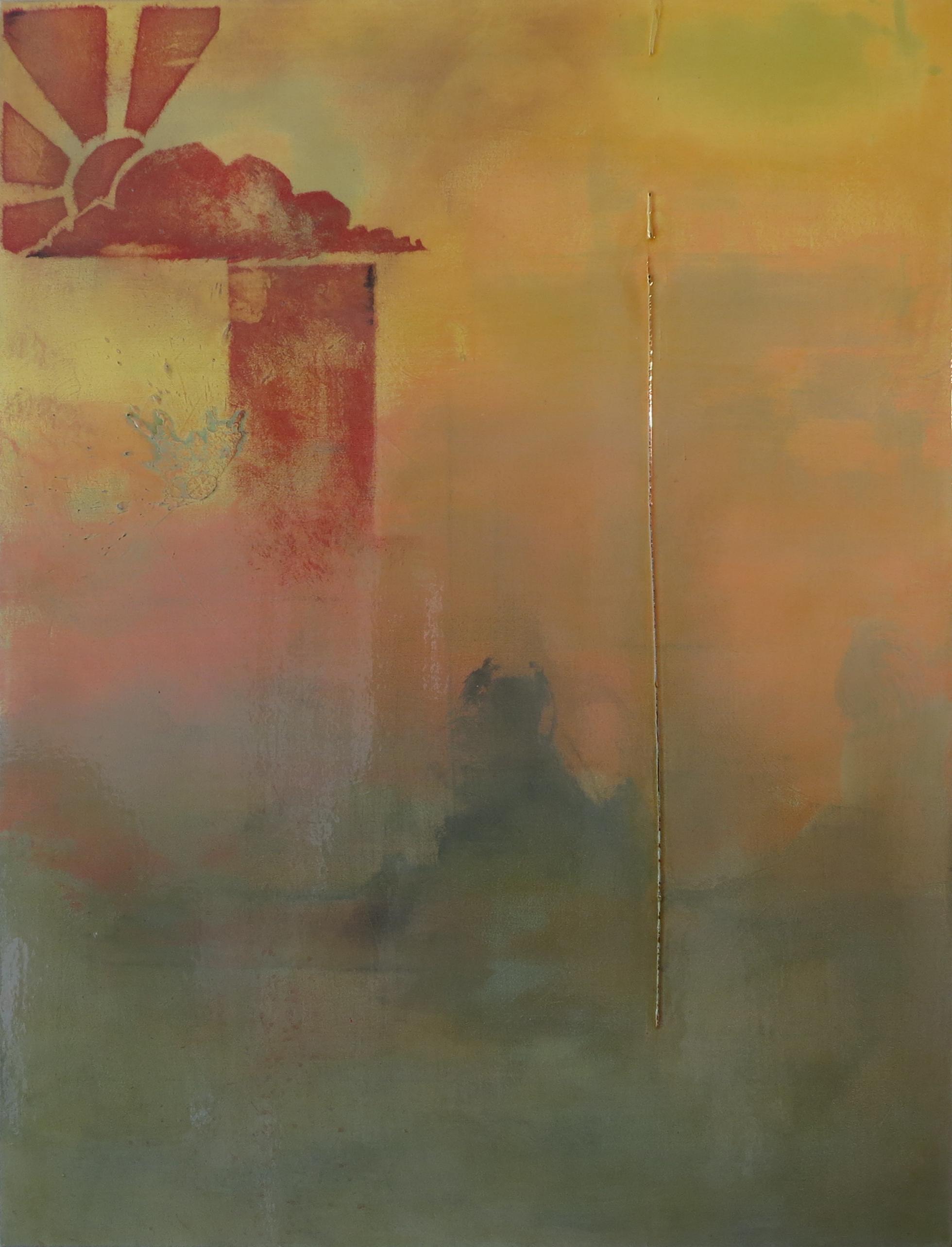 "PEACE HILL I   2013  Series: Piece Hill  Acrylic, Wax, Varnish on Canvas  30x40"""