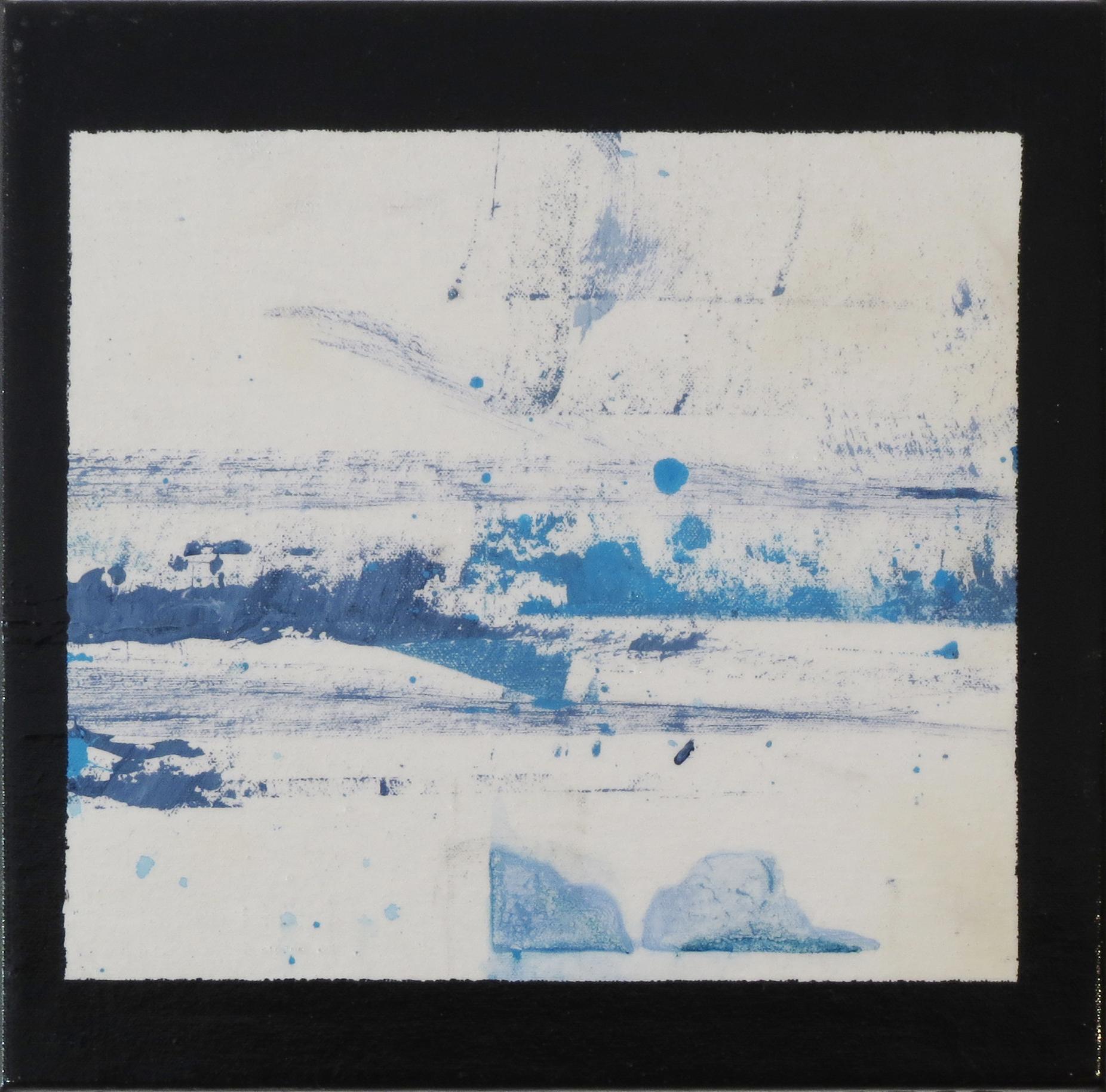 "BLUE AB VII   2013  Dream Series  Acrylic, Wax, Varnish, Canvas  12x12""  SOLD"
