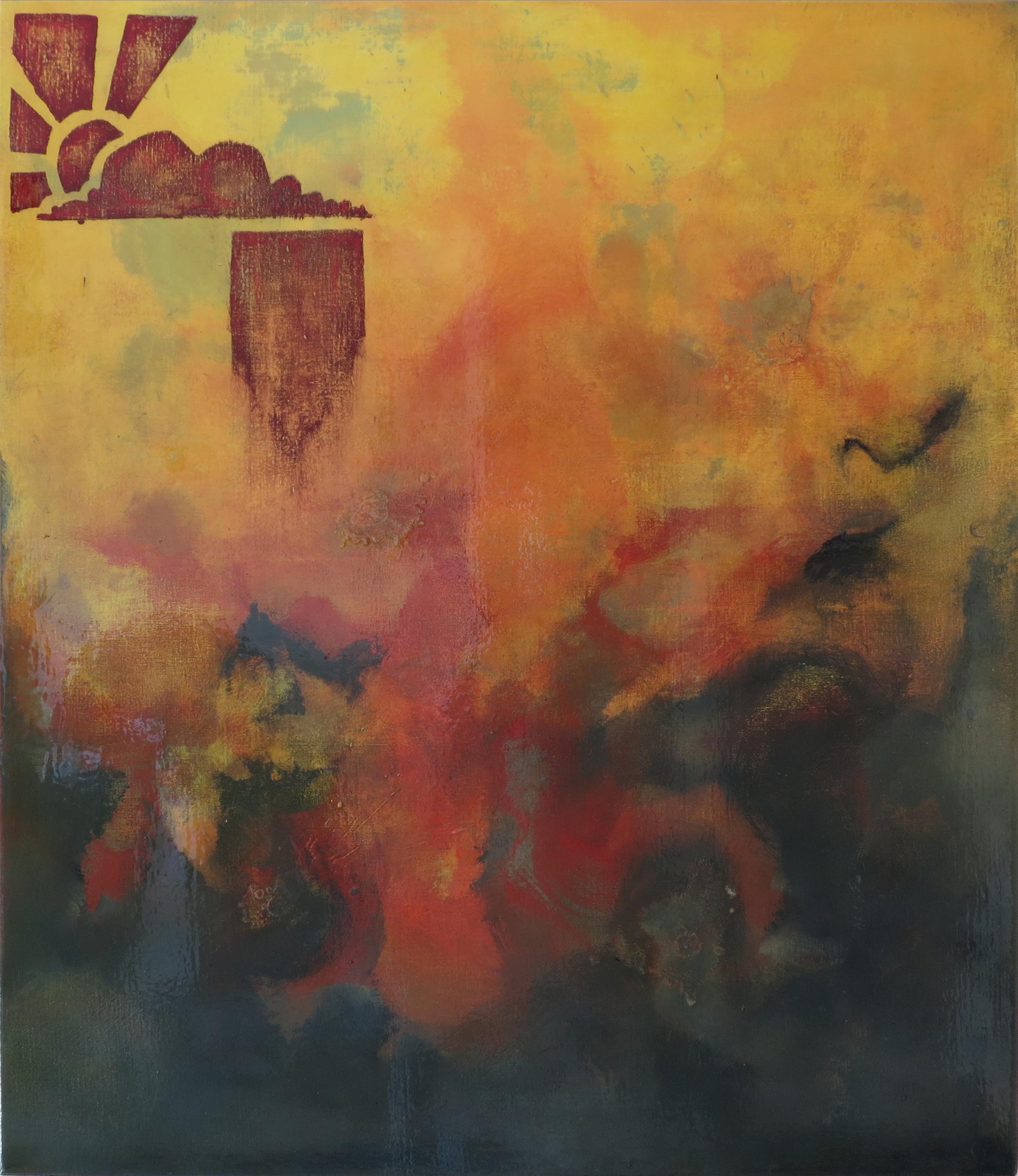 "STORM   2013  Series: Peace Hill  Acrylic, Wax, Varnish on Canvas  36x40"""