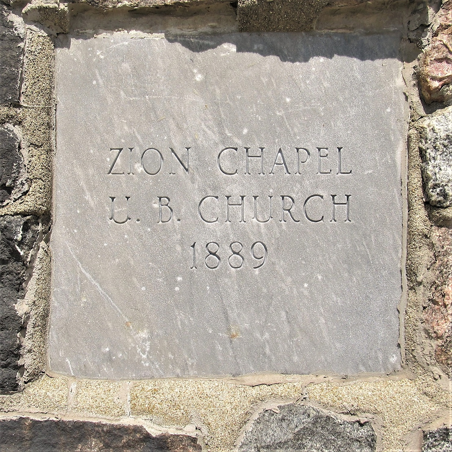 The original cornerstone of the building