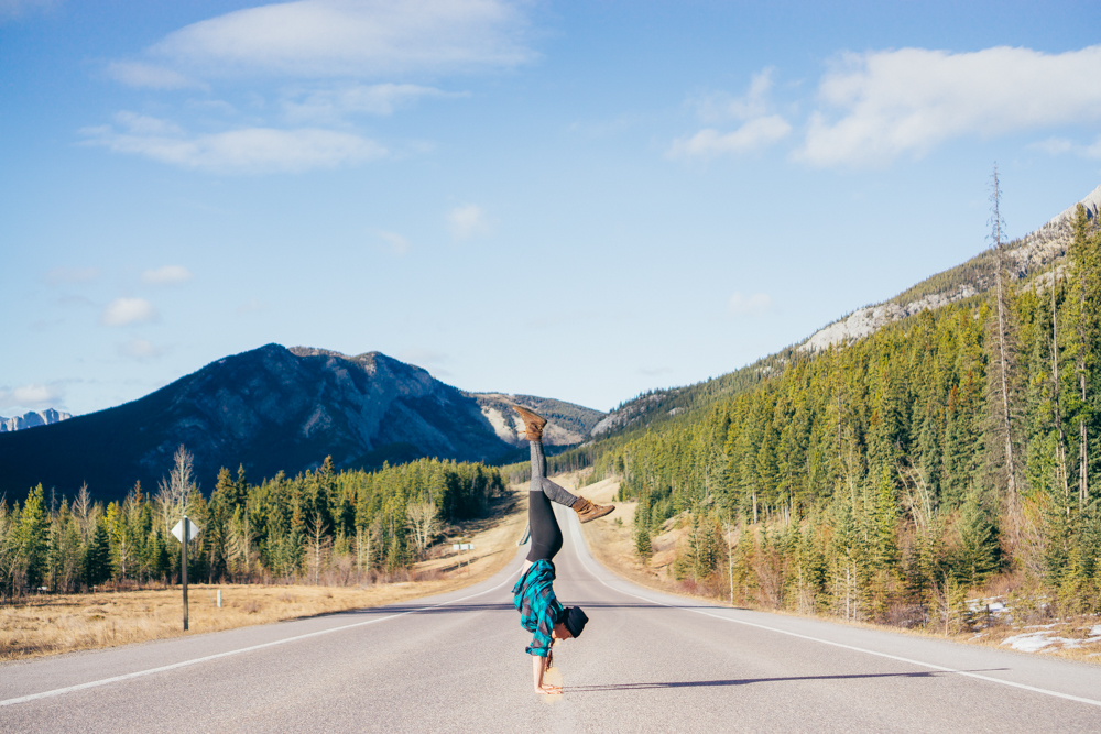 yoga copywriter road trip sequence
