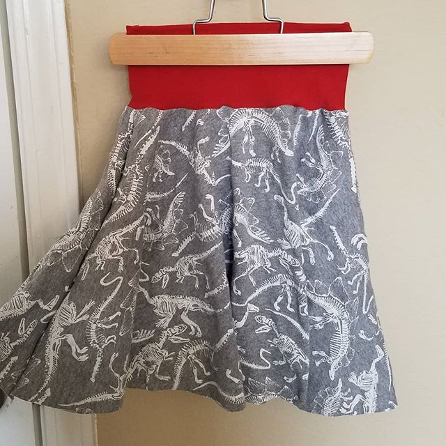 Who said skirts are only for summer? New dino skirt in the making