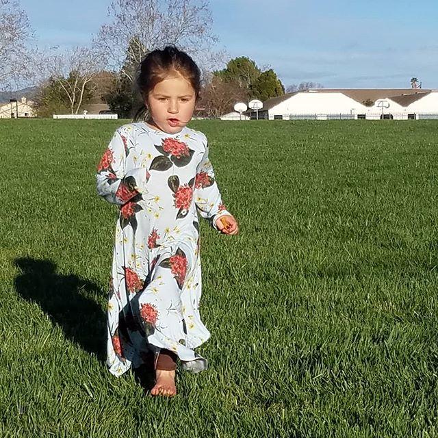 Enjoying the spring in this beautiful circle dress