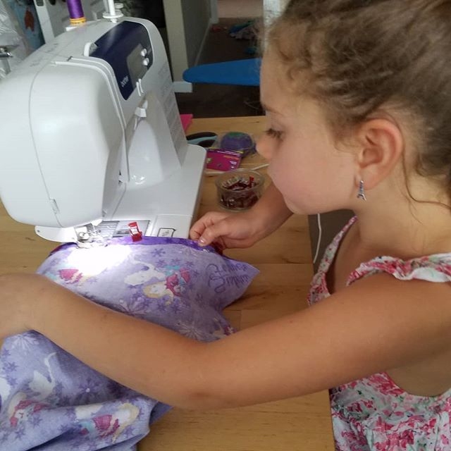 First sewing lesson complete