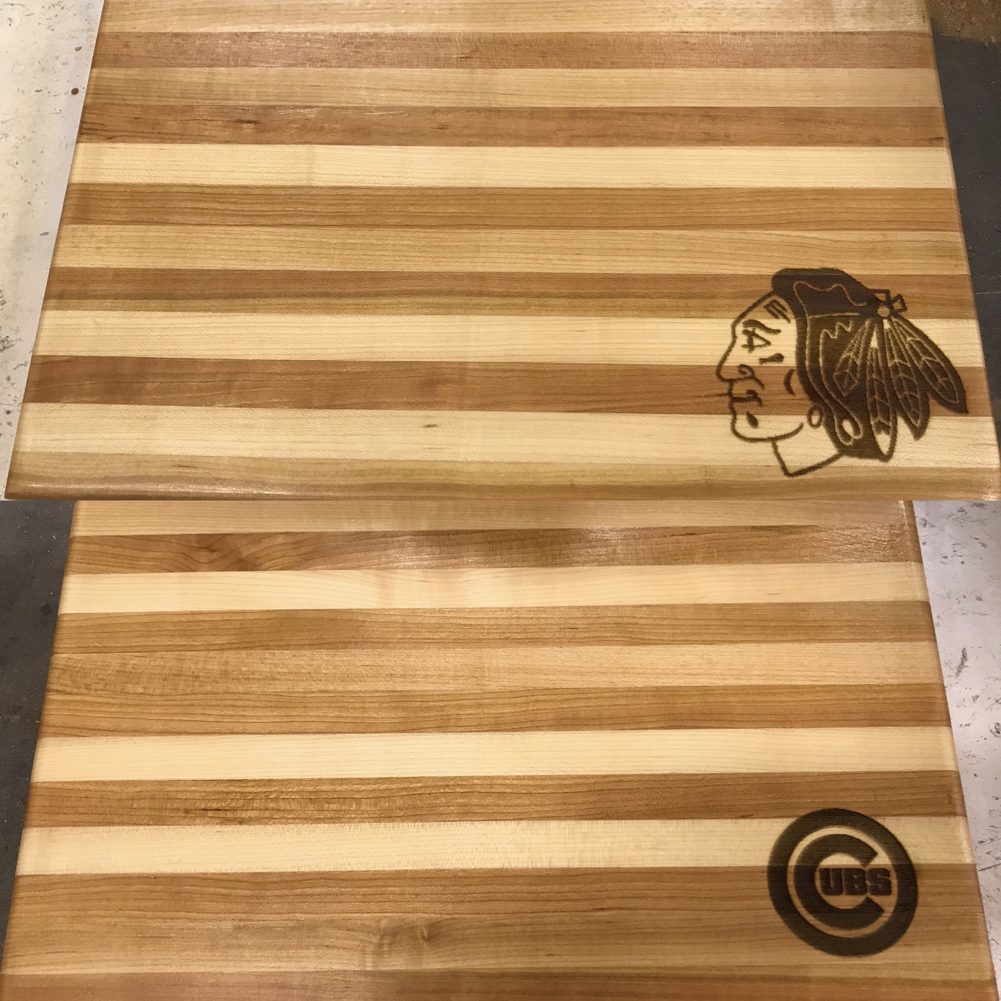 Laser Etched Cutting Boards. Many Logos, Monograms, etc. are available to your wood project